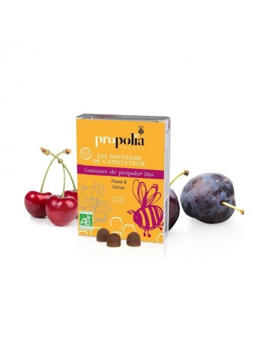 Gommes Propolis Prune - Cerise Bio - Propolia