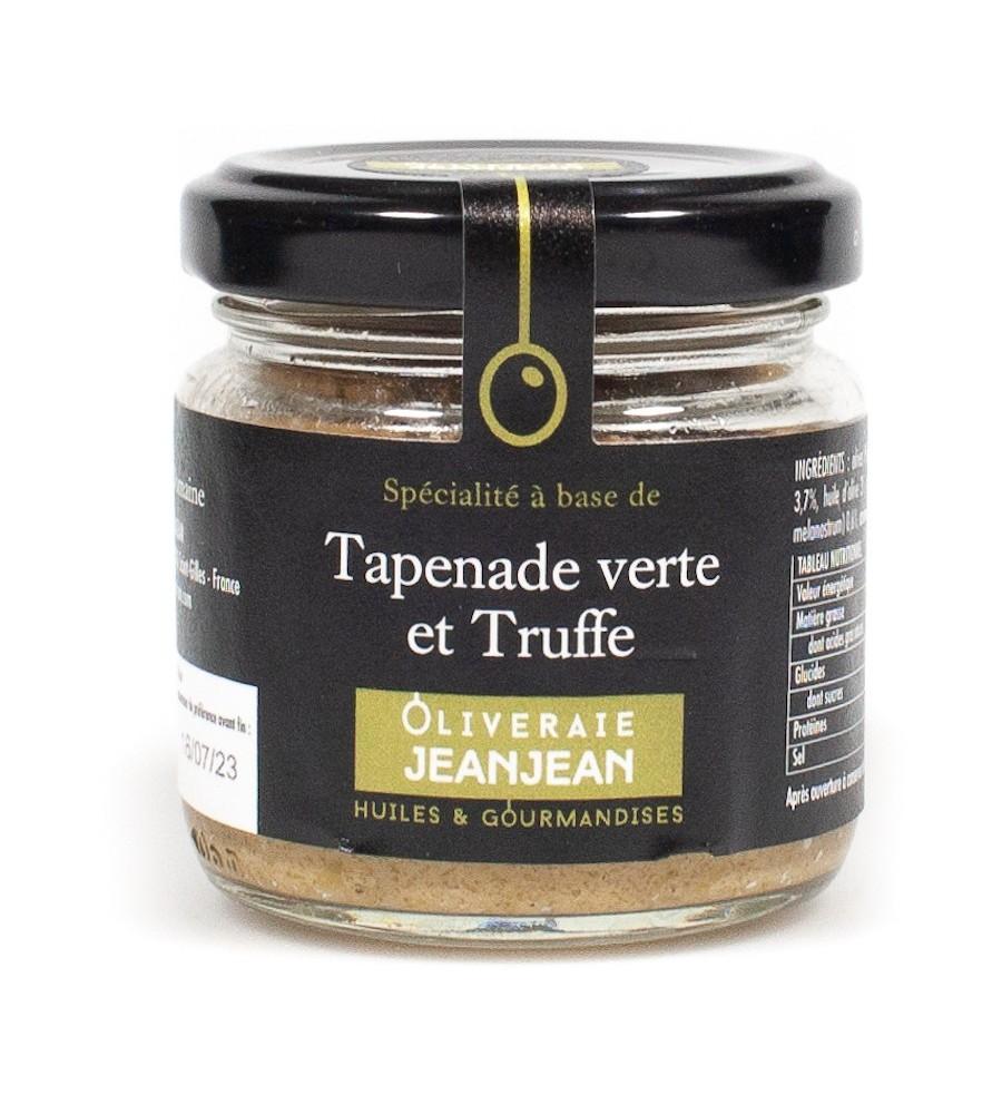Tapenade verte et truffe 85g oliveraie Jeanjean