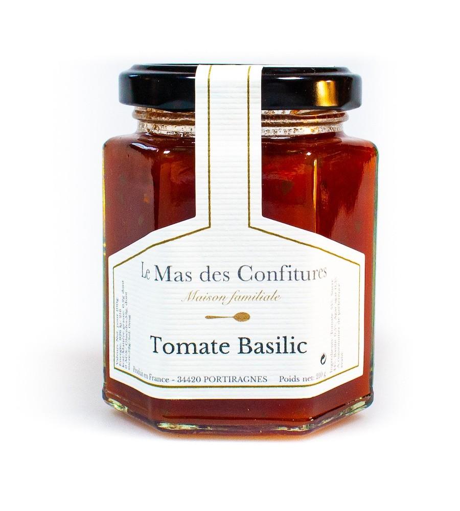 Confiture tomate basilic - Le mas des confitures