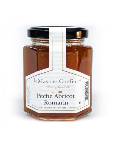 Confiture pêche abricot romarin - Le mas des confitures