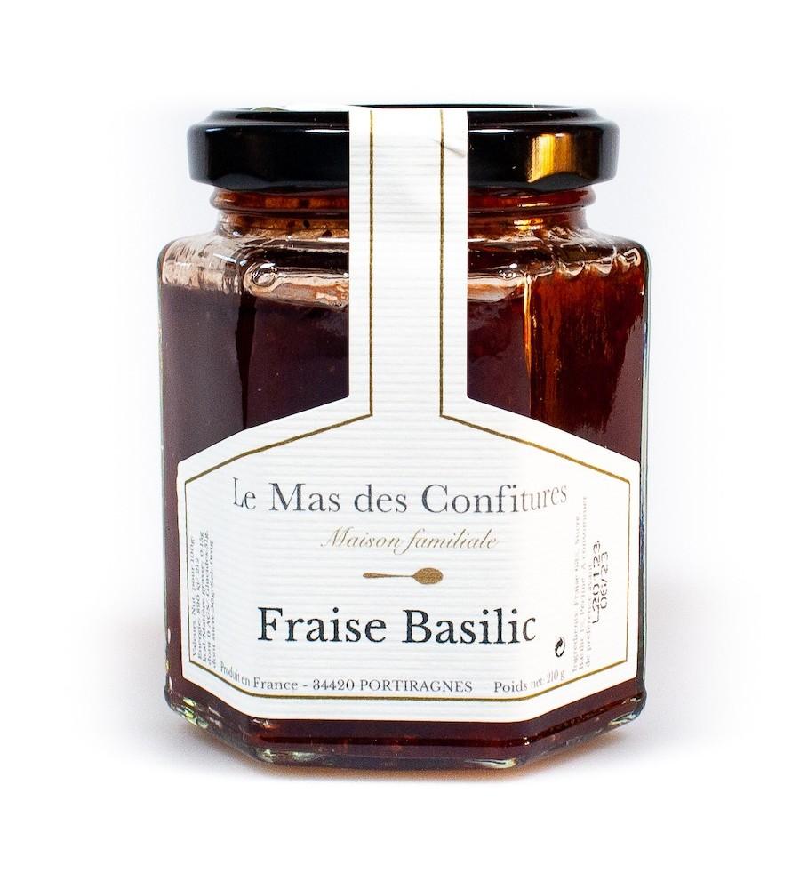 Confiture Fraise basilic - Le mas des confitures