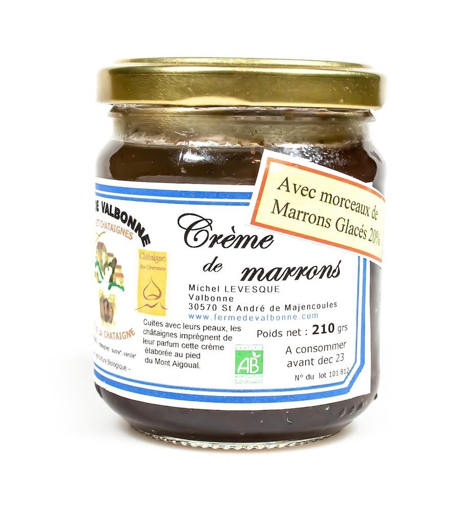 Crème de marrons glacés BIO 210g - Ferme de Valbonne