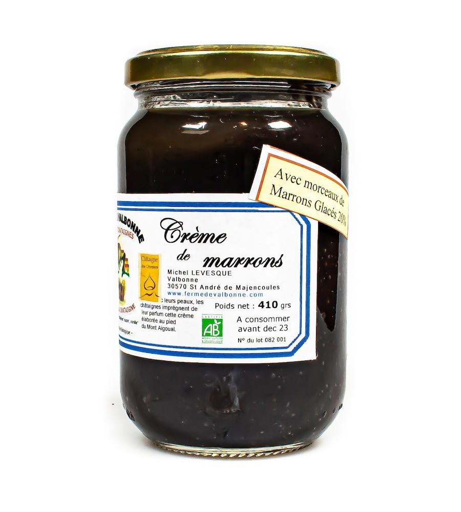Crème de marrons glacés BIO 410g - Ferme de Valbonne