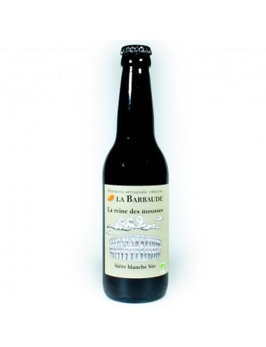 Bière Artisanale La Reine Des Mousses 33cl - Blanche BIO - Brasserie La Barbaude