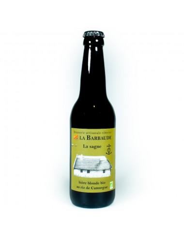 Bière Artisanale La Sagne 33cl - Blonde BIO - Brasserie La Barbaude