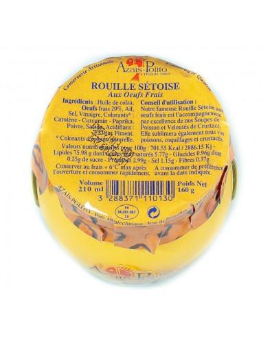 Rouille Sétoise artisanale Aux Œufs Frais & Safran - Pot Marmiton 210ml
