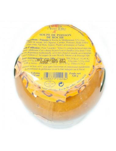 Soupe de poissons de roche artisanale - 52% de Poisson - 370ml
