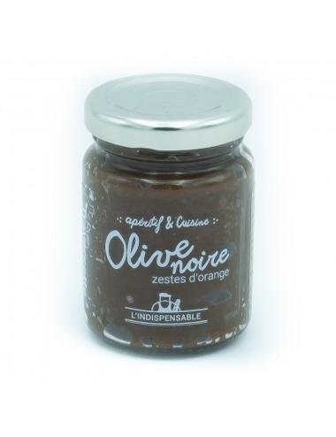 L'indispensable crème d'olive noire aux zestes d'orange - 90g