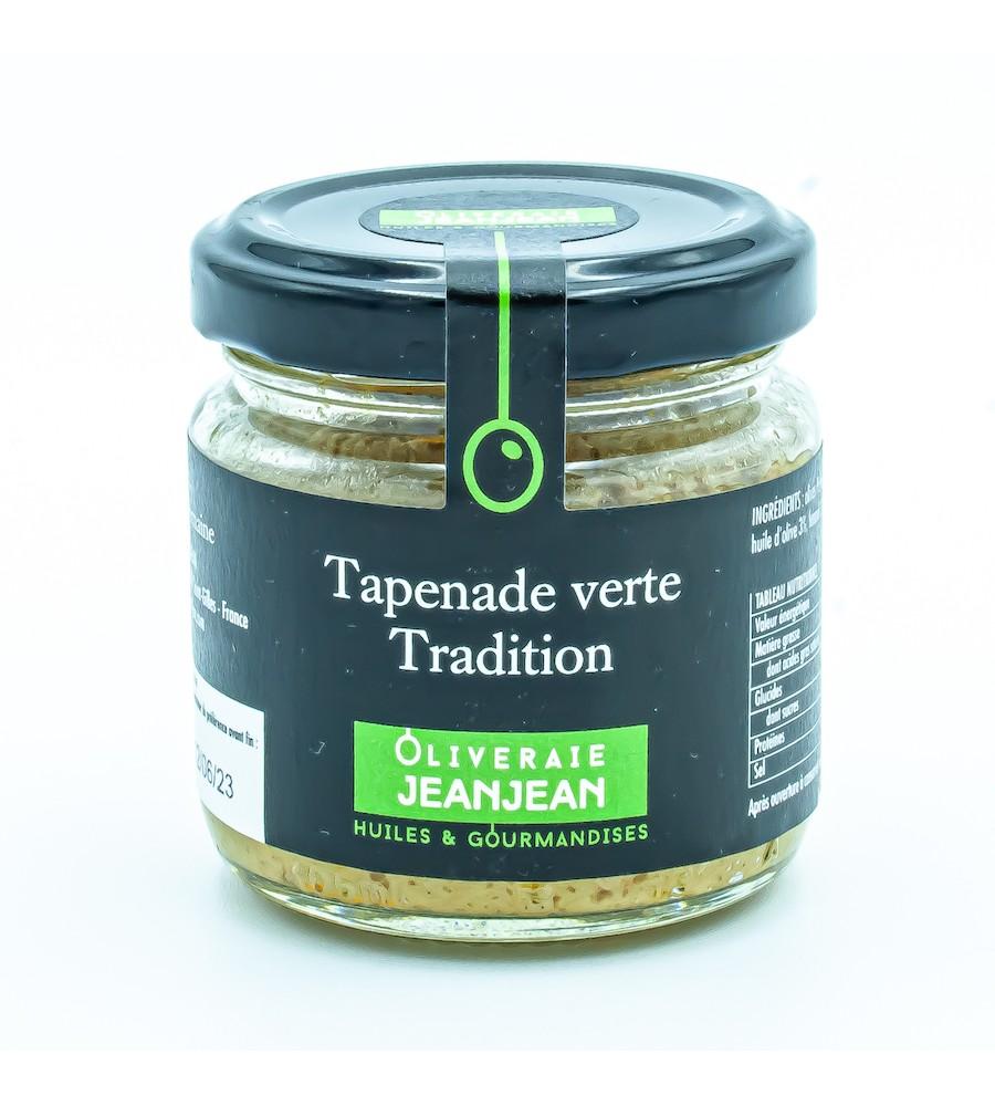 Tapenade verte tradition 85g oliveraie Jeanjean