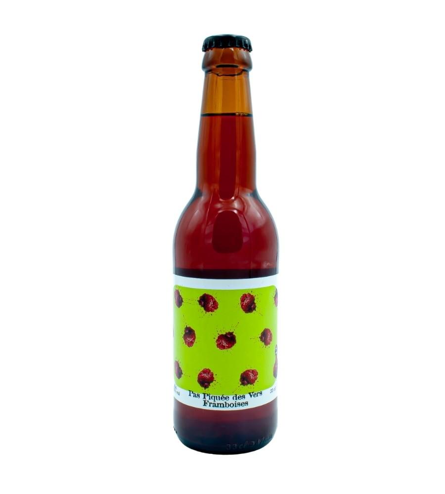Bière Bio artisanale Pas Piquée des Vers Framboise 33cl - Brasserie des Garrigues