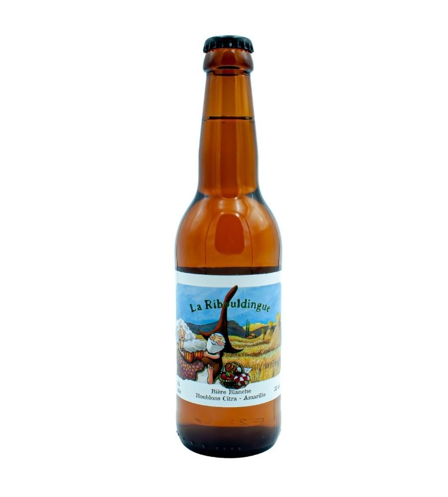 Bière Bio Blanche artisanale La Ribouldingue 33cl - Brasserie des Garrigues