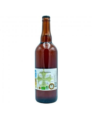 Bière Bio Blonde artisanale Belle Américaine 75cl - Brasserie des Garrigues