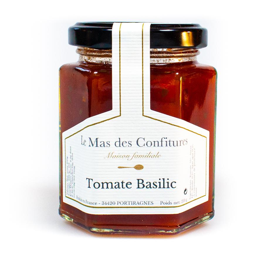 Confiture tomate basilic
