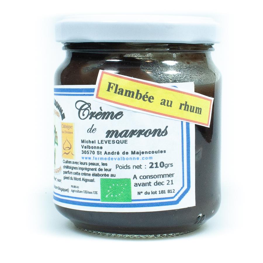 Crème de marrons flambée au rhum