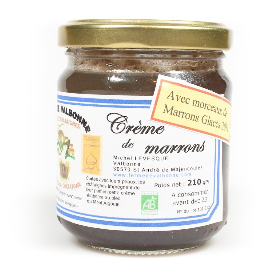 Crème de marrons avec morceaux glacés