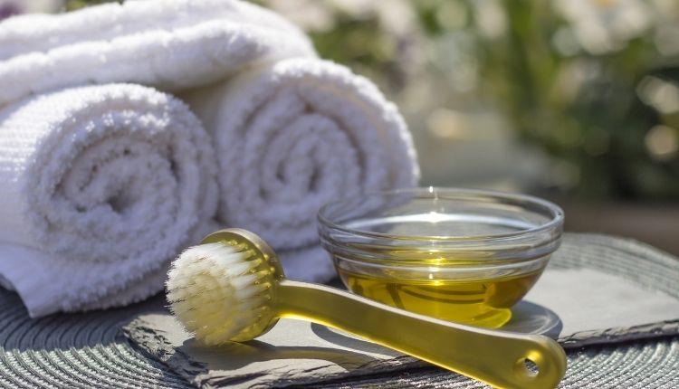 Huile olive cosmétique